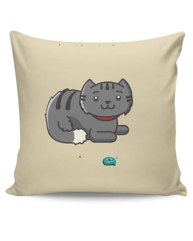 Being Indian Fluffy Cat  Cushion Cover Online India