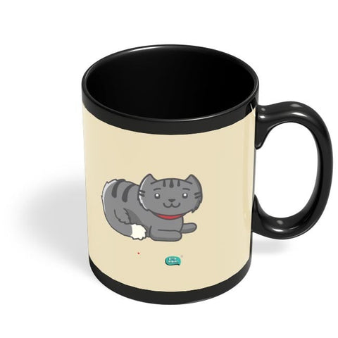 Being Indian Fluffy Cat  Black Coffee Mug Online India