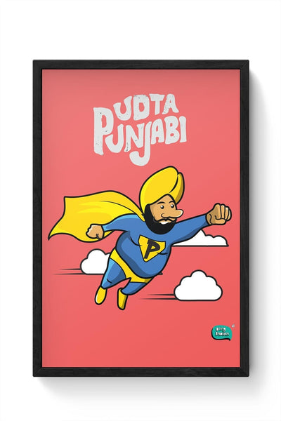 Being Indian Udta Punjabi Framed Poster Online India