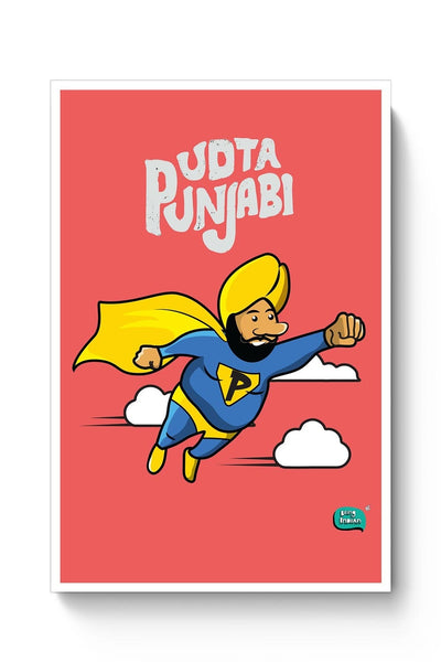 Buy Being Indian, Illustration,Sardar Ji, Cute,Funny Poster
