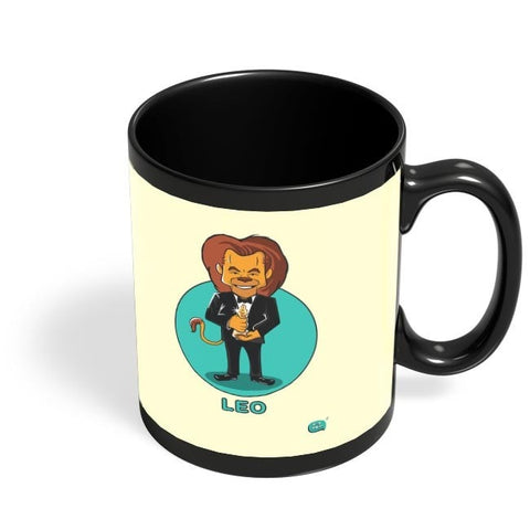 Being Indian Leo Zodiac Digital Art  Black Coffee Mug Online India