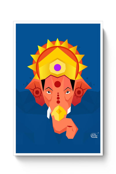 Buy Lord Ganesha Digital Illustration Poster