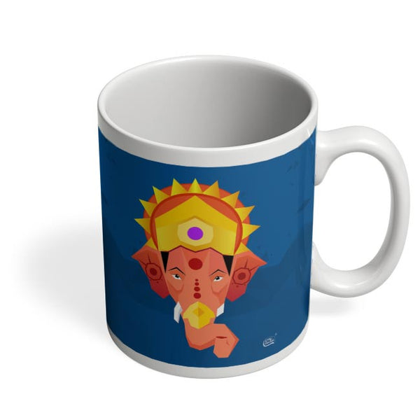 Lord Ganesha Digital Illustration Coffee Mug Online India