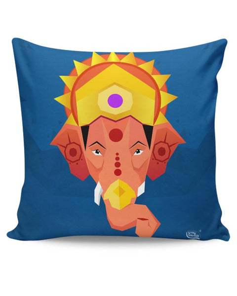 Lord Ganesha Digital Illustration Cushion Cover Online India