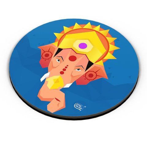 Lord Ganesha Digital Illustration Fridge Magnet Online India