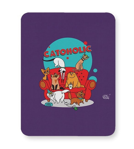 Catoholic Quirky Cats Illustration Mousepad Online India