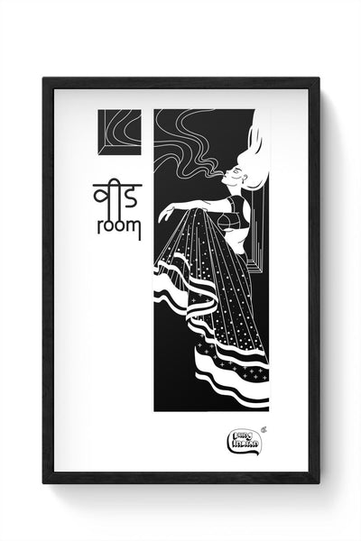 Weed Room Illustration Framed Poster Online India