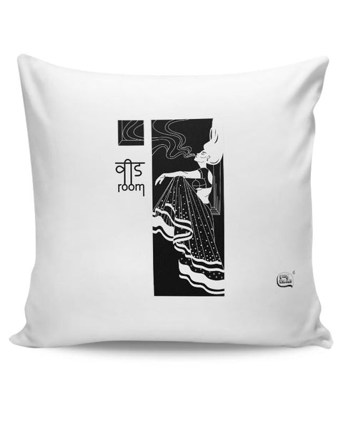 Weed Room Illustration Cushion Cover Online India