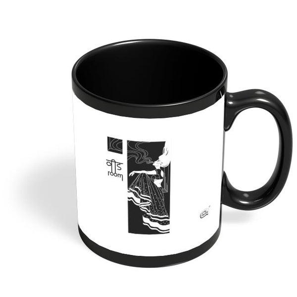 Weed Room Illustration Black Coffee Mug Online India