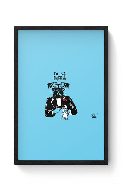 The Dogfather | Godfather Parody  Framed Poster Online India