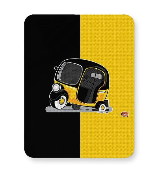 Auto Rickshaw in pot Hole | Typical Mumbai Mousepad Online India