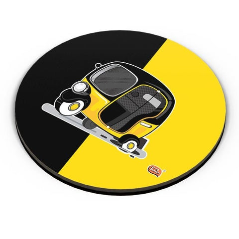 Auto Rickshaw in pot Hole | Typical Mumbai Fridge Magnet Online India
