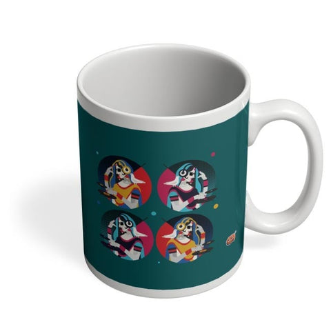 Bass Rani DJ desi girl Illustration Coffee Mug Online India