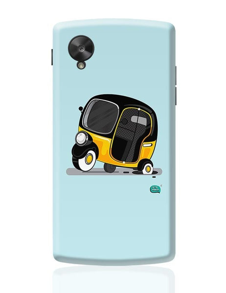 Auto Rickshaw in pot Hole | Typical Mumbai Google Nexus 5 Covers Cases Online India