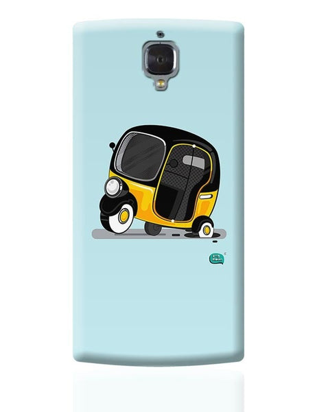 Auto Rickshaw in pot Hole | Typical Mumbai OnePlus 3 Covers Cases Online India