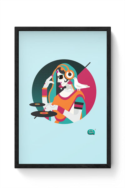 Dj Girl Desi Quirk Framed Poster Online India