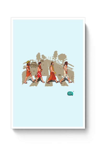 Buy Sadhu Beatles Quirky Illustration Poster