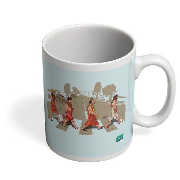 Sadhu Beatles Quirky Illustration Coffee Mug Online India