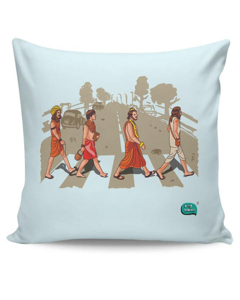 Sadhu Beatles Quirky Illustration Cushion Cover Online India