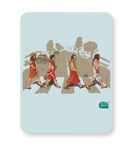 Sadhu Beatles Quirky Illustration Mousepad Online India
