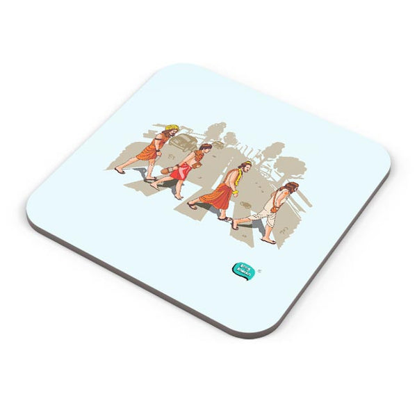 Sadhu Beatles Quirky Illustration Coaster Online India