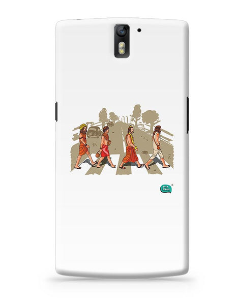 Sadhu Beatles Quirky Illustration OnePlus One Covers Cases Online India