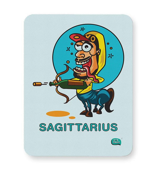 Saggitarius Funny Zodiac Illustration Mousepad Online India