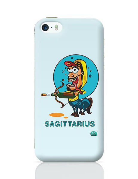 Saggitarius Funny Zodiac Illustration iPhone 5/5S Covers Cases Online India