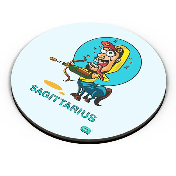 Saggitarius Funny Zodiac Illustration Fridge Magnet Online India