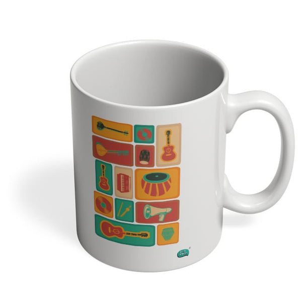 Music Instruments Collection Illustration Coffee Mug Online India