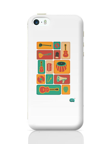 Music Instruments Collection Illustration iPhone 5/5S Covers Cases Online India