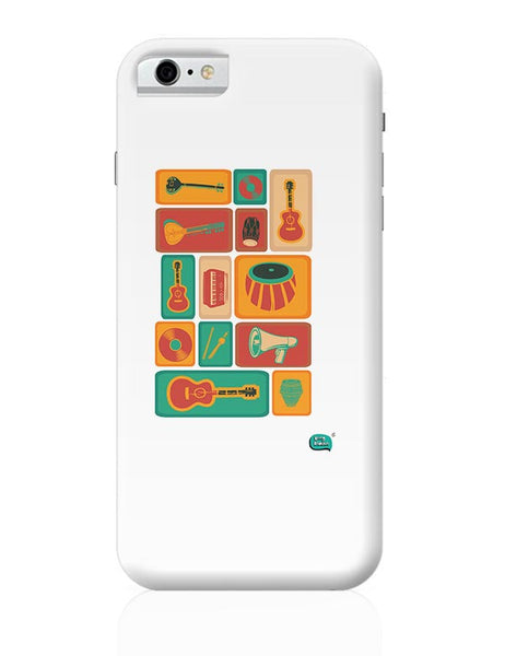 Music Instruments Collection Illustration iPhone 6 6S Covers Cases Online India