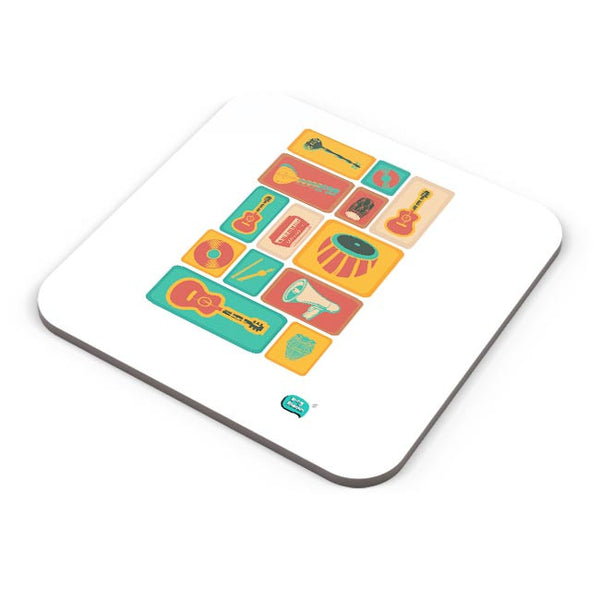 Music Instruments Collection Illustration Coaster Online India