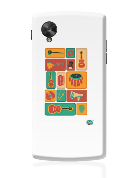 Music Instruments Collection Illustration Google Nexus 5 Covers Cases Online India