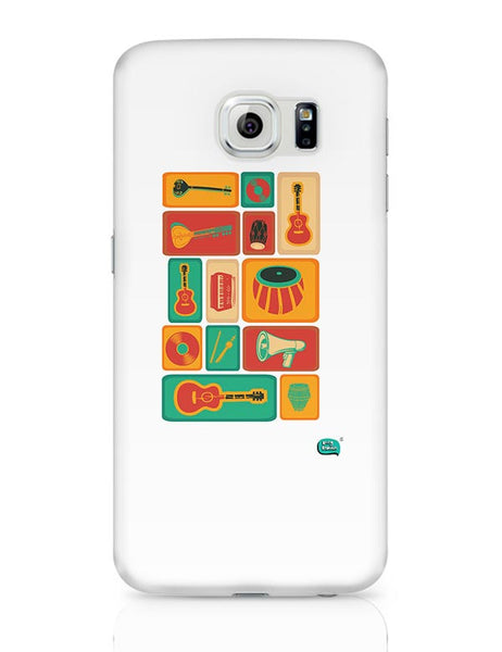Music Instruments Collection Illustration Samsung Galaxy S6 Covers Cases Online India