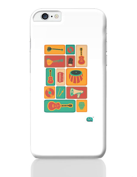Music Instruments Collection Illustration iPhone 6 Plus / 6S Plus Covers Cases Online India