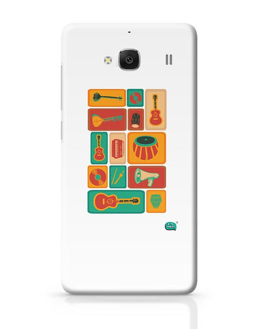 Music Instruments Collection Illustration Redmi 2 / Redmi 2 Prime Covers Cases Online India
