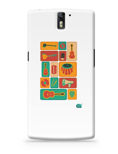 Music Instruments Collection Illustration OnePlus One Covers Cases Online India