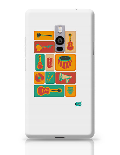 Music Instruments Collection Illustration OnePlus Two Covers Cases Online India