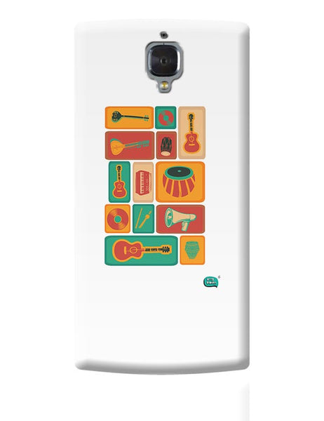 Music Instruments Collection Illustration OnePlus 3 Covers Cases Online India