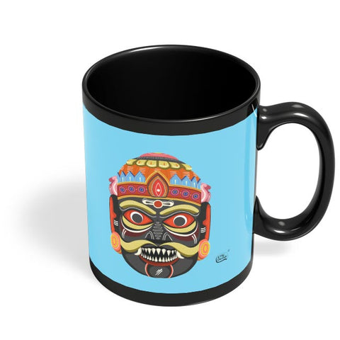Anaar Illustration Black Coffee Mug Online India