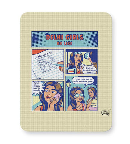 Delhi Girls  Illustration Mousepad Online India