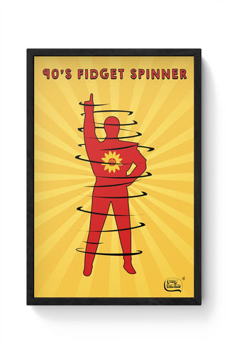90's Fidget Spinner Framed Poster Online India