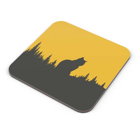 Buy Coasters Online | Minimal Cat Coaster Online India | PosterGuy.in
