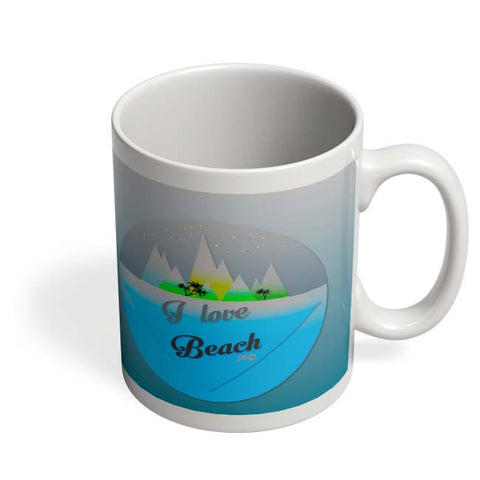Coffee Mugs Online | I Love Beach Mug Online India