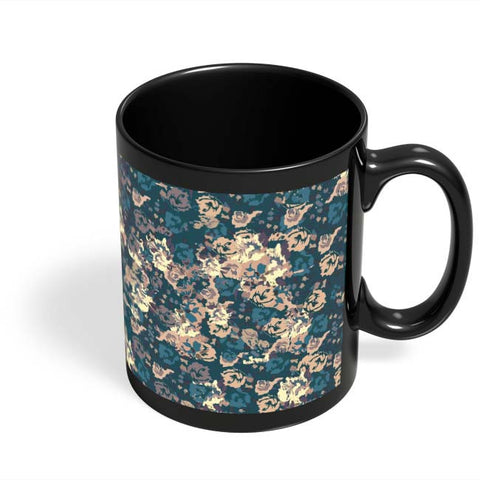 Coffee Mugs Online | Dreamersassociation Floral Pattern Black Coffee Mug Online India