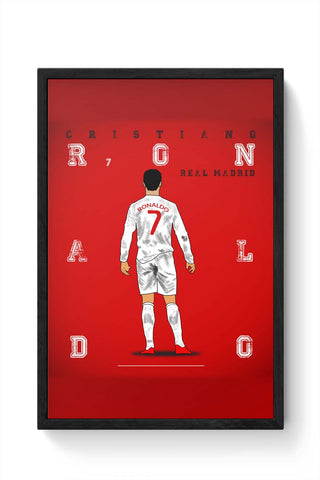 Framed Posters Online India | Cristiano Ronaldo Laminated Framed Poster Online India