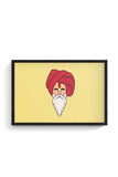 Buy Sadhu Baba Glass Framed Poster
