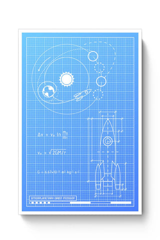Posters Online | Rocket Blueprint Poster Online India | Designed by: Yash Banka