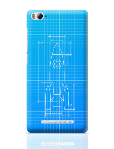 Xiaomi Mi 4i Covers | Rocket Blueprint Xiaomi Mi 4i Cover Online India